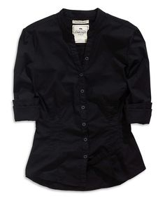 Look what I found on #zulily! Black Button-Up Top by TIMEOUT #zulilyfinds
