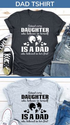 Funny Dad Shirts, Dad To Be Shirts, Best Dad Gifts, Gifts For Husband, New Fathers, First Daughter, Dad Humor, Believe, Dads