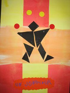 Lors de mes recherches sur Pinterest autour du cirque je suis tombée sur cette oeuvre sur le site La moyenne section de Lolo . J'ai donc creusé un peu l'idée.        J'ai... Clown Cirque, Art Du Cirque, Tangram, Circus Art, Teacher Organization, Art Plastique, Album, Puzzles, Free Games