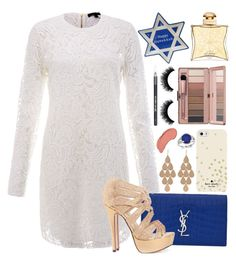 """""""Happy Chanukah! ✡"""" by bee-farrell on Polyvore featuring Yves Saint Laurent, Rachel Zoe, Kate Spade, Kevin Jewelers, Irene Neuwirth, NYX, Barry M, St. Nicholas Square and Hermès"""