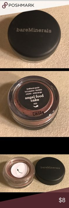 Bareminerals eyecolor Great product, beautiful color. Color is angel food cake. Thanks for checking out my products. bareMinerals Makeup Eyeshadow