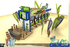 geico booth, extra long with game element