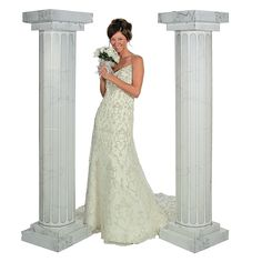 Marble-Look Fluted Columns - 6 ft. - OrientalTrading.com