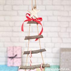 Árbol de Navidad de madera para colgar #christmas