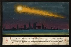 """The """"Book of Miracles"""" includes 26 examples of comets, including this one: """"In the year 1007 A.D., a wondrous comet appeared. It gave off fire and flames in all directions. As it fell to Earth it was seen in Germany and Italy."""""""