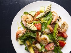 Grilled Watermelon, Avocado, and Shrimp Salad: While grilling, watermelons get even sweeter from the flames, shrimp gets crisp and plump, and avocado turns deliciously smoky.