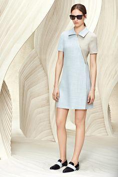 Boss | Resort 2016 | 03 Blue/grey short sleeve mini dress