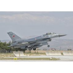 Turkish Air Force F-16 during Exercise Anatolian Eagle Canvas Art - Giovanni CollaStocktrek Images (17 x 12)