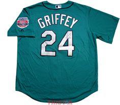 0ccec2bc26e Ken Griffey Jr. Autographed Seattle Mariners 1990s Green Replica Jersey Ken  Griffey