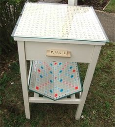 'A Disorderly Struggle'  Scrabble Table SOLD £95 - Snog the Frog
