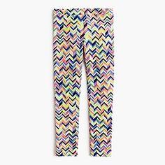Girls' everyday leggings in zigzag