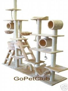Amazon.com: 9 ft. Cat Tree in Beige: Pet Supplies