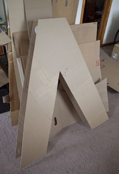 Making giant letters out of cardboard