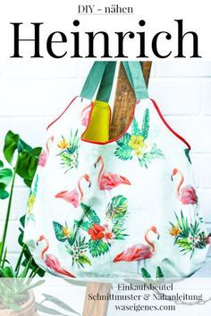 Sewing instructions and patterns: Heinrich Shopping Bag - Bag # Sewing Instructions Pattern # - Flammkuchen Toast Diy Tote Bag, Diy Purse, Reusable Tote Bags, Bon Image, Diy Blog, Luxury Bags, Free Sewing, Bag Making, Diy Clothes