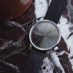 As classy as it gets: Winston Regal Black with Italian leather wristband. www.komono.com