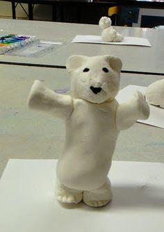 model clay polar bears