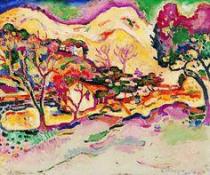 """Georges Braque, """"Paysage à La Ciotat"""" 1907 (huile sur toile)"""