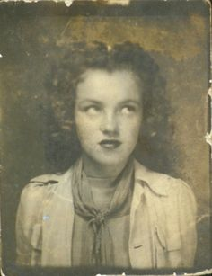 Rare self portrait of a twelve year old Marilyn Monroe (Norma Jean Baker) taken in a photo booth