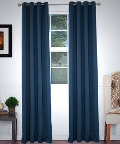 Look what I found on #zulily! Navy Blackout Curtain Panel - Set of Two #zulilyfinds