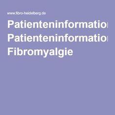 Patienteninformation Fibromyalgie