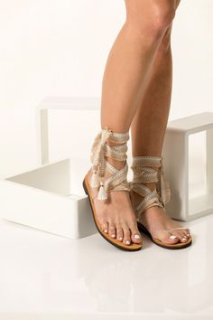 The Agape sandals are handmade of quality vegan leather, PVC feature and wrap around the ankle fringed ribbons. Make them stand out against minimalist dresses or cropped denims. Bridal Sandals, Nude Sandals, Gladiator Sandals, Vegan Sandals, Minimalist Dresses, Fringe Sandals, Luxury Shoes, Types Of Shoes, Vegan Leather