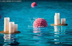 Trump Internation Resort Sunny Isle, Destination Indian Wedding, Suhaag Garden, outdoor pool decor, floating candles