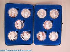 "157at.jpg ""Fireman's Silver Medallion"" collection, series 2, 1999 - 2009, contains 10 medallions each 2oz pure silver. Bids close Thurs, 15 Sept from 11am ET. http://bid.cannonsauctions.com/cgi-bin/mnlist.cgi?redbird57/157"
