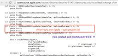 """Alptraum: Schwere Apple SSL Sicherheitslücke in iOS 7 & Mac OS X!  - http://apfeleimer.de/2014/02/alptraum-schwere-apple-ssl-sicherheitsluecke-in-ios-7-mac-os-x - Die SSL Sicherheitslücke bei Apple, die mit dem Update auf iOS 7.0.6 und iOS 6.1.6 behoben wurde, ist deutlich schlimmer als gedacht. Denn obwohl Apple mit iOS 7.0.6 und iOS 6.1.6 sich dem SSL Problem annimmt ist Mac OS X zum aktuellen Zeitpunkt weiterhin angreifbar. Das Problem: """"Sichere ..."""