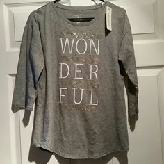 Wonderful 3/4 length t-shirt Comfy and cute t-shirt Sonoma Tops Tees - Long Sleeve