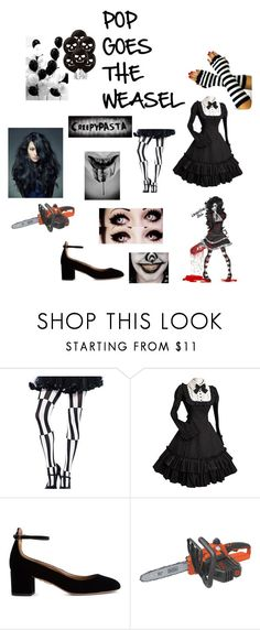 """Laughing Jill"" by blackanimewolf on Polyvore featuring Aquazzura and Black & Decker"