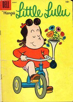Lulu on her bike