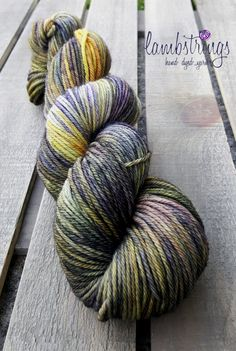 Ewetopia Worsted Hand dyed yarn Superwash Merino by Lambstrings