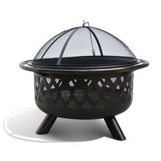 Monterey Bronze Rubbed Steel FP-001 31-inch Outdoor Fire Pit | Overstock.com Shopping - The Best Deals on Fireplaces & Chimineas