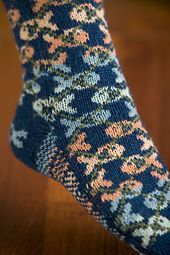 Fishgyle Socks Pattern - Knitting Patterns and Crochet Patterns from… Knitting Stitches, Knitting Socks, Hand Knitting, Knit Socks, Knitting Patterns, Crochet Patterns, Argyle Socks, Knitted Slippers, Colorful Socks