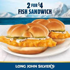 2 Classic Crispy Fish Sandwiches for $4.... - Long John Silver's | Facebook Hot Dog Buns, Hot Dogs, Long John Silver, Fish Sandwich, Hamburger, Sandwiches, Facebook, Classic, Food