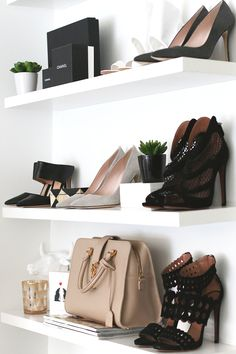 Tips on how you go about dressing up your shelves.