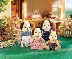 Beagle Dog Family (Calico)  - Dollhouse Toys by Calico Critters (CC2005) $25 u.s.