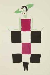 By Sonia Delaunay, 1969, Robes poèmes. 27 tableaux vivants. Paris.