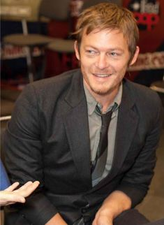 Norman Reedus, aka Daryl Dixon on the Walking Dead, aka the only man who can be bad-tail and still be a nanny.