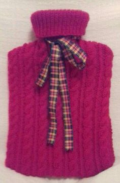 Christmas red hot water bottle cover knitted hot water bottle Bottle Cover, Red Christmas, Tartan, Water Bottle, Textiles, Trending Outfits, Unique Jewelry, Hot, Handmade Gifts