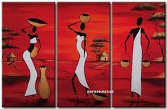 Nice idea for mosaic/separate and maybe diff background color. Worli Painting, Canvas Painting Tutorials, Art Painting Gallery, Pencil Sketch Images, Africa Drawing, Composition Painting, African Art Paintings, Haitian Art, Africa Art