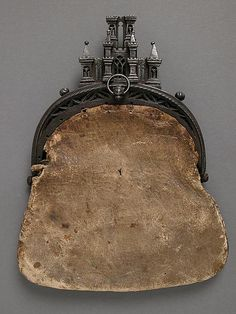 Castle Framed Purse, circa 15th or 16th century-Renaissance purse dating back to about 1470-1550