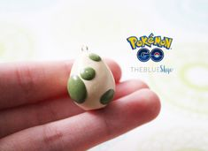 Pokémon Go Egg Charm- Pokemon Polymer Clay Necklace/Pendent, Keychain                                                                                                                                                     More