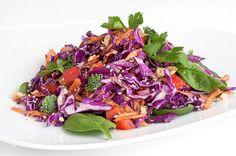 Σαλάτα αντιοξειδωτική-featured_image Greek Recipes, Light Recipes, Food Categories, Chutney, Salad Recipes, Cabbage, Food And Drink, Appetizers, Vegetarian