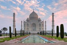 """Taj Mahal is a white Marble mausoleum located in Agra, India. It was built by Mughal emperor Shah Jahan in memory of his third wife, Mumtaz. The Taj Mahal is widely recognized as """"the jewel of Muslim art in India and one of the universally admired masterpieces of the world's heritage."""