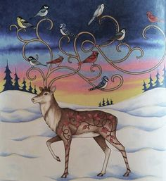 Deer enchanted forest