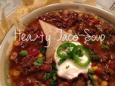 Fiddle Dee Dee: Fitness Friday: Taco Soup