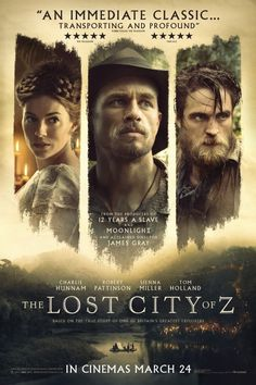 Charlie Hunnam, Sienna Miller, and Robert Pattinson in The Lost City of Z (2016)