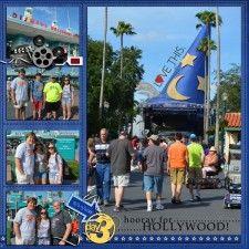 Disney World, Hollywood Studios scrapbook page layout idea