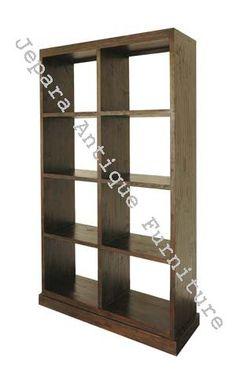 Rak Buku Dua Muka kayu jati, banyak rak buku kayu jati berkualitas yang bisa anda gunakan untuk mengganti lemari rak buku dirumah anda yang sudah tidak layak pakai.